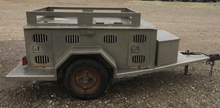 4 Hole Aluminum Diamond Plate Dog Trailer